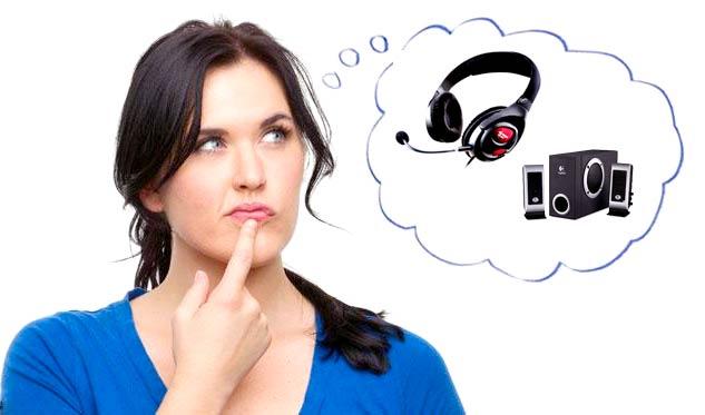 Speaker atau headset