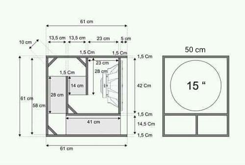 Ukuran dan Skema Box Subwoofer Speaker